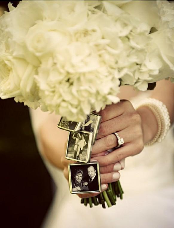 Personalized Wedding Bouquet Photo Frame Charms 1121528