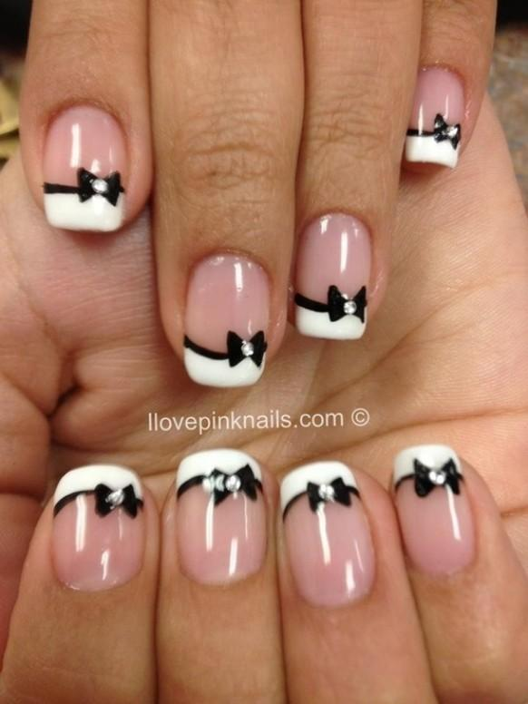 Cute french nail art