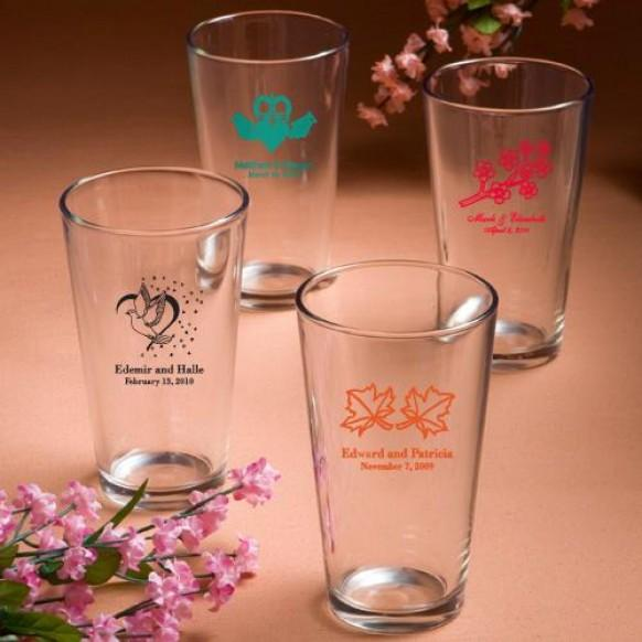 wedding gifts personalized pint glasses wedding favors 1180895