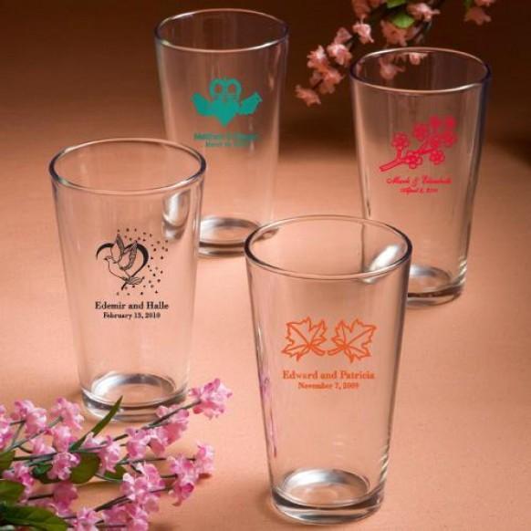 Wedding Gifts Glasses Personalized : Wedding GiftsPersonalized Pint Glasses Wedding Favors #1180895 ...