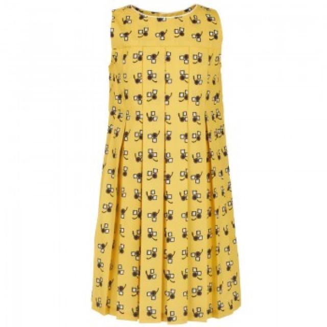 Wedding Gifts Yellow Geometric Pleat Dress 1212243 Weddbook