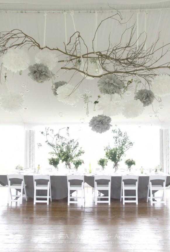 Wedding Decorations Ideas For Walls : Luces de la boda colgante decoraci?n weddbook