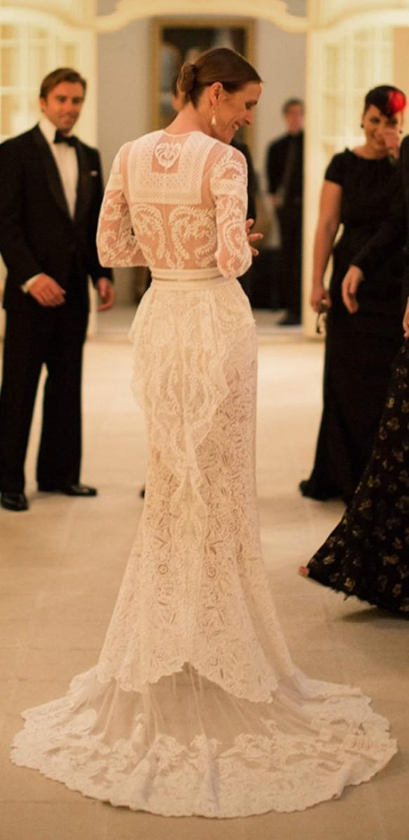 wedding dresses custom made givenchy lace wedding dress With givenchy wedding dress