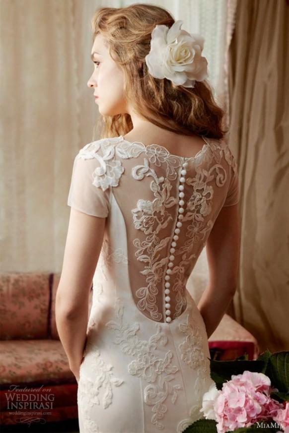 wedding photo - MiaMia Alan Hannah Spring Bridal Collection ♥ Gorgeous Lace Back Button Wedding Dress