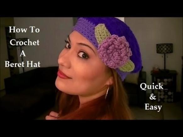 Wie Zu Einem Vintage Stil Häkeln Baskenmütze Hut Schritt Für