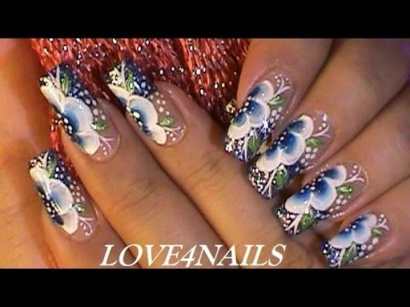 One Stroke Nail Art Technique Nails Gallery