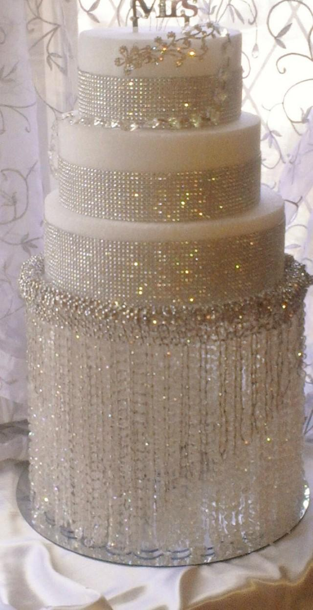 Wedding Cake Stand With Crystals Chandelier Acrylic Beads Also Available In Crystal Beads