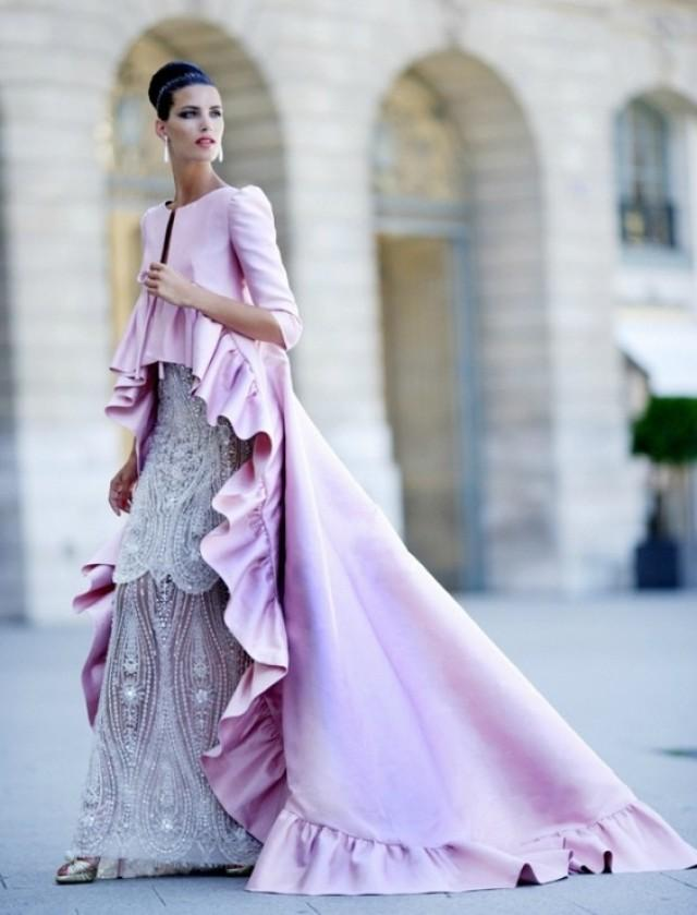 Bridesmaid zuhair murad ruffled pink haute couture for Haute couture wikipedia