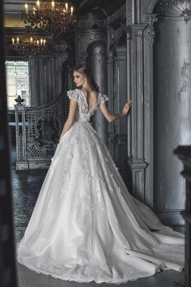 new white ivory organza wedding dress custom size 2 4 6 8