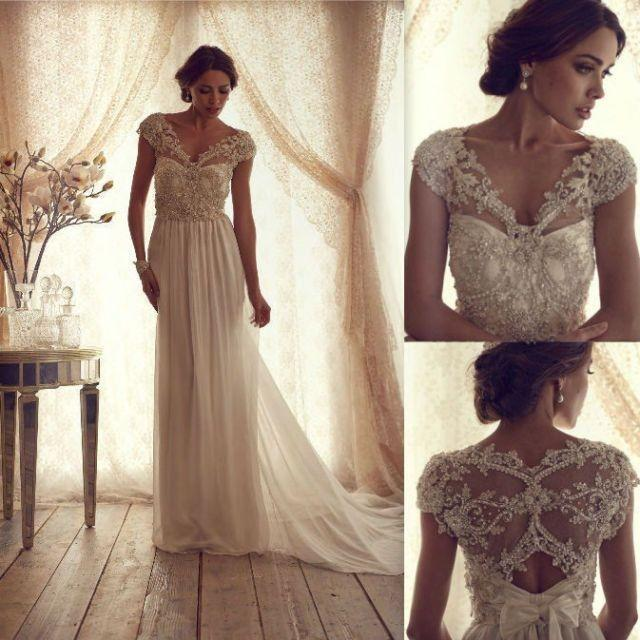 gorgeous anna campbell vintage lace wedding dress 2045662