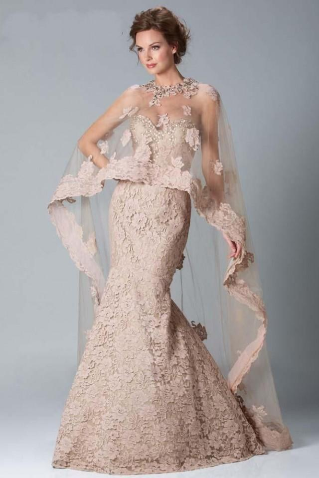 New lace wedding gown with a beautiful shawl 2050718 for Shawls for wedding dresses