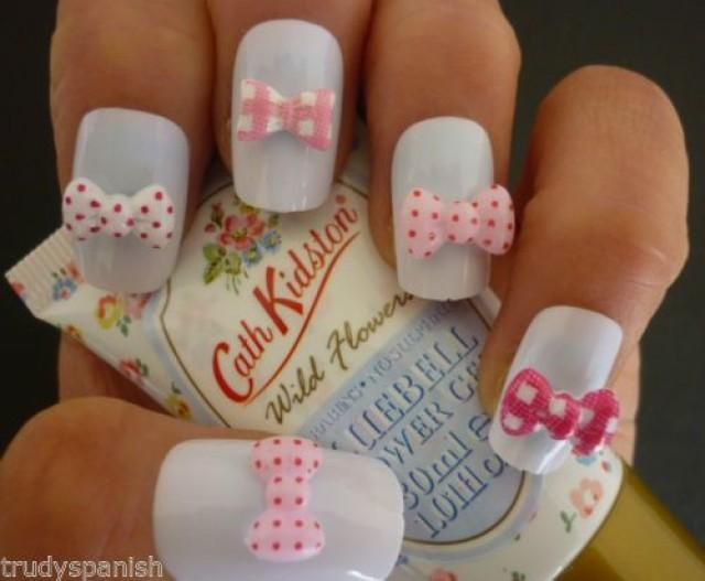 Details about 3d nail art bows pink kawaii kidston kitsch for 3d nail art decoration