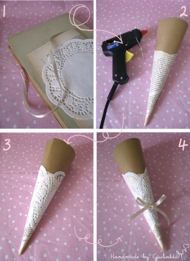 Diy super easy doily wedding candy bar cones 2065320 - Manualidades para una boda ...