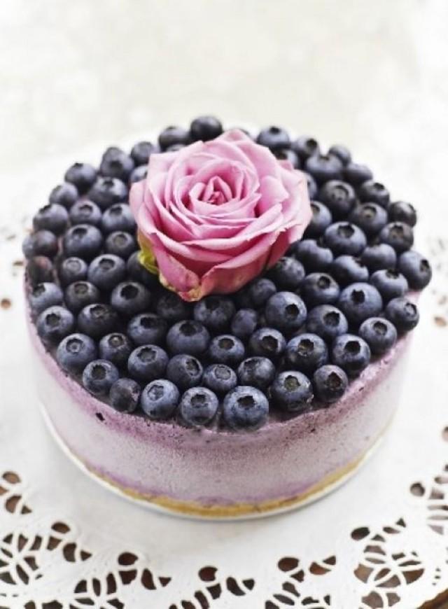 Wedding Cakes - Blueberry Ice Cream Cheesecake #2065772 - Weddbook