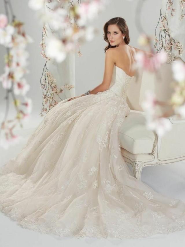 wedding photo - New A-Line Wedding Dress Bridal Gown Custom Size 2-4-6-8-10-12-14-16-18-20-22