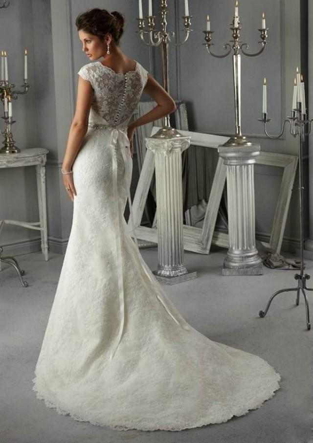 mermaid white lace wedding dress bridal gown custom plus size 16 18 20 22 24 2155003 weddbook