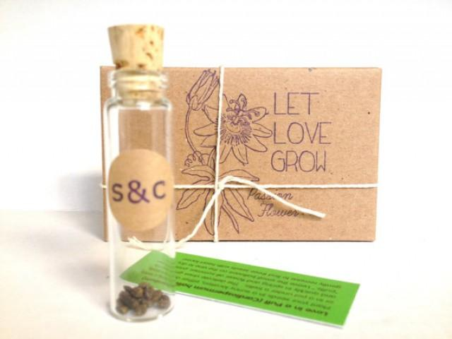 Wedding Favors Passion Flower Seeds Set Of 10 Eco Friendly Favors