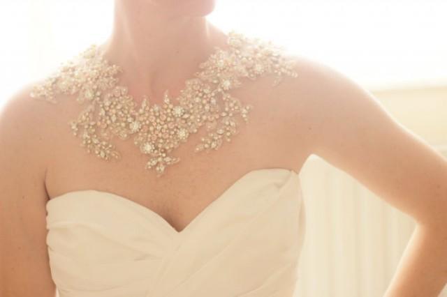 Bridal Crystal Gold And Blush Statement Necklace, Bridal Swarovski ...