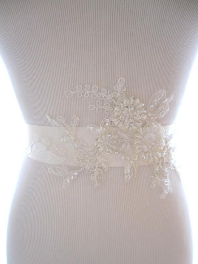 lovely beaded lace bridal sash wedding belt wedding sash