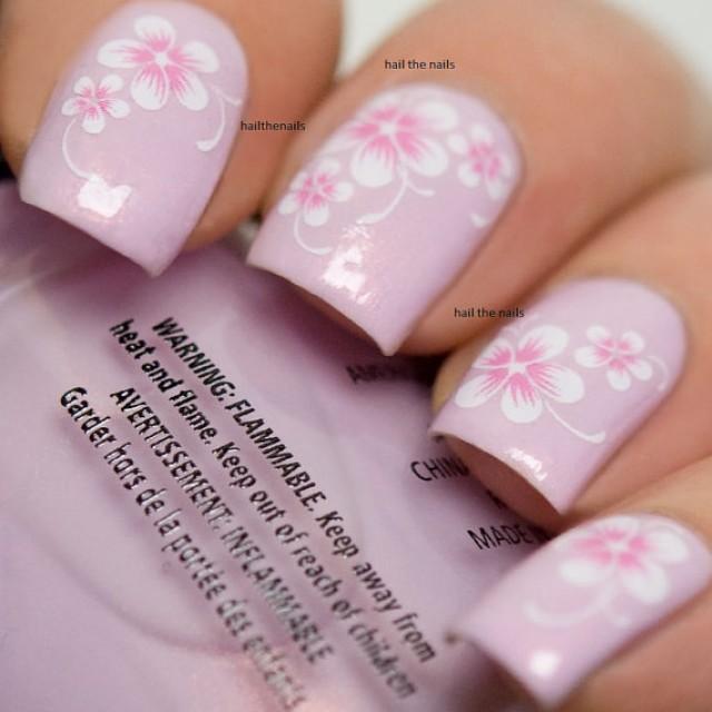 Pink Daisy Nail Wraps Nail Art Nail Decals Water Transfers Salon