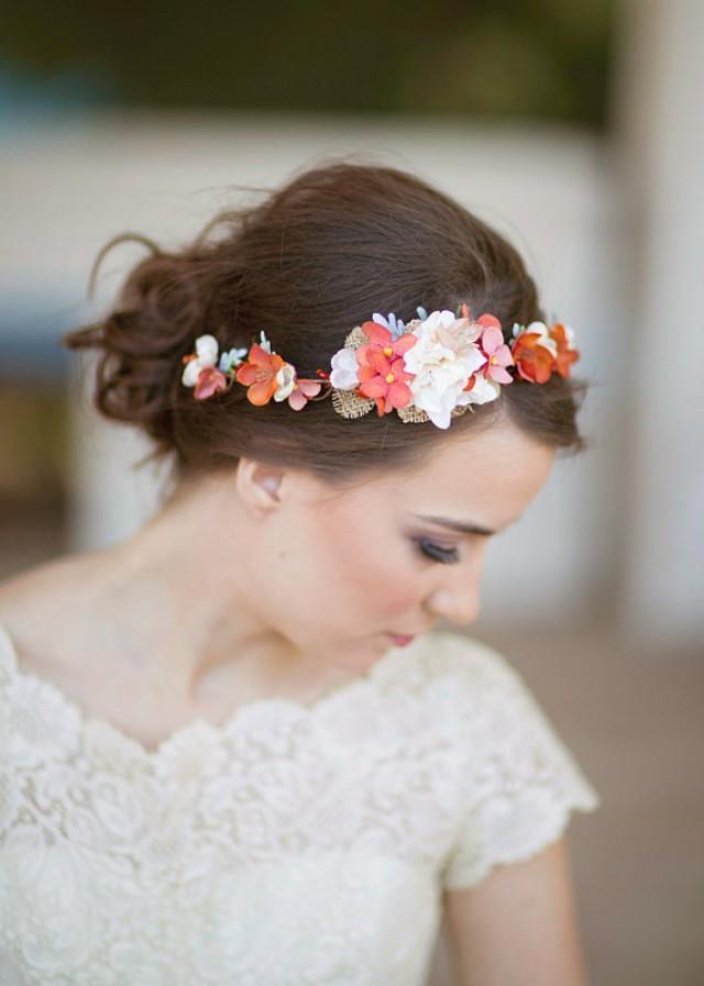 wedding hair headband with flower. Black Bedroom Furniture Sets. Home Design Ideas