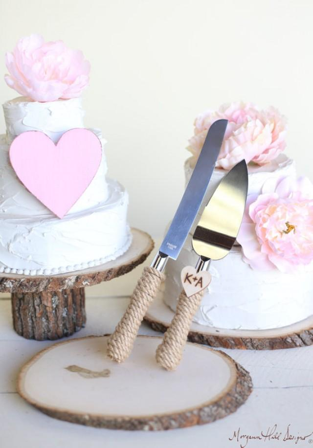 personalized rustic wedding cake knife serving set item number 140343 new item new 2236147. Black Bedroom Furniture Sets. Home Design Ideas