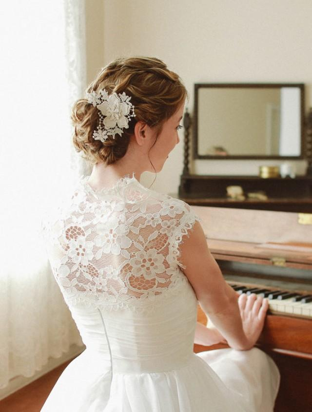 wedding photo - Wedding lace hair embellished with shooting stars