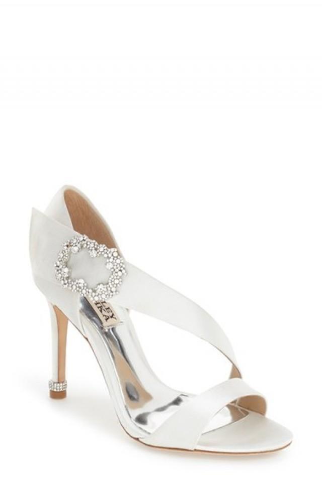 wedding photo - Badgley Mischka 'Night' Crystal Embellished Evening Sandal (Women)