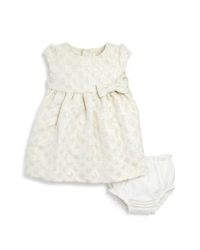 kate spade new york Girls' Metallic Dot Jacquard Dress & Bloomer Set - Baby