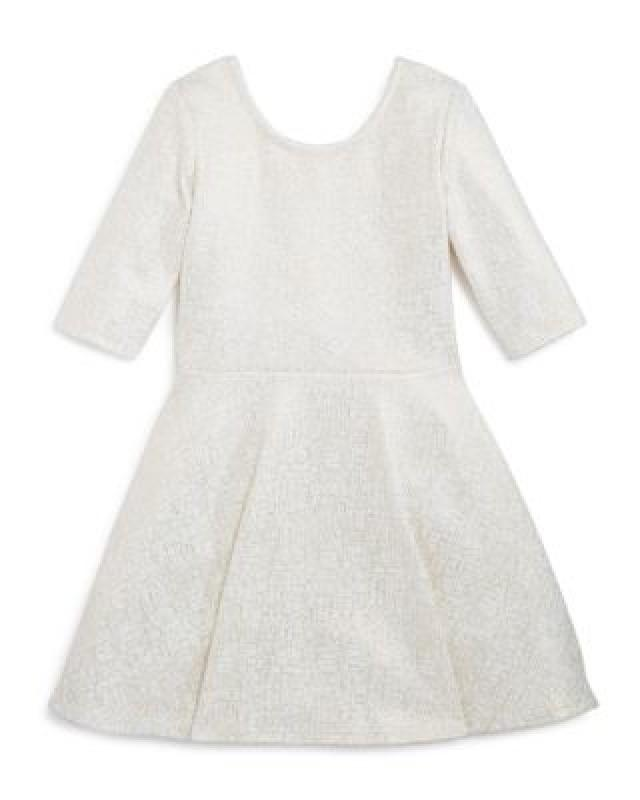 Bloomie's Girls' Flared Shimmer Dress - Little Kid - 100% Exclusive