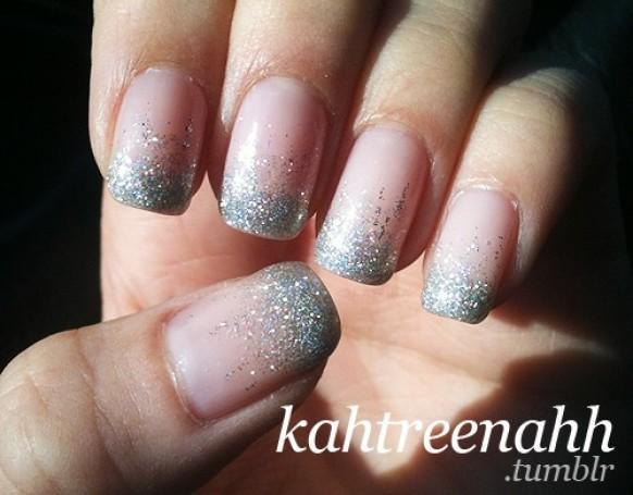 Sparkle And Glitter Wedding Bridal Nail Designs Wedding Nail