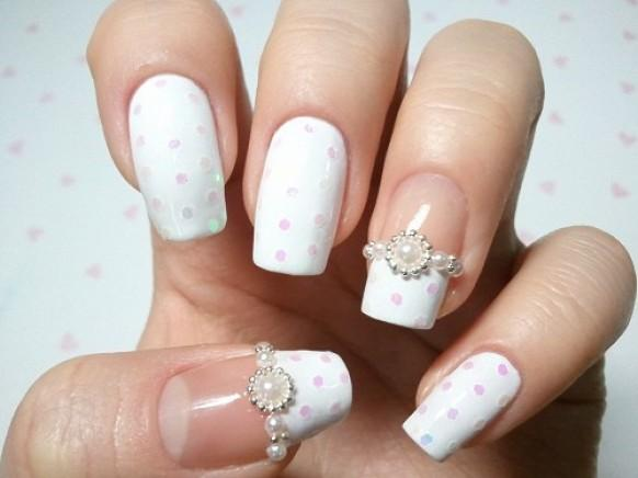 Sparkle and glitter wedding bridal nail designs wedding nail bridal nail designs wedding nail art prinsesfo Image collections