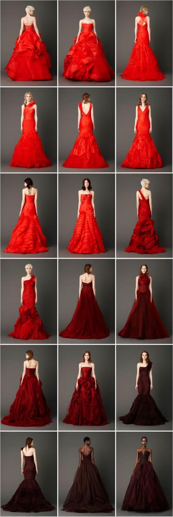 Telas rojas para vestidos