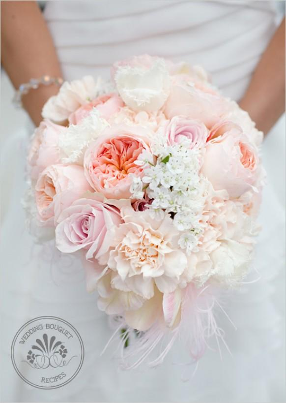 wedding photo - Soft Peach Wedding Bouquet