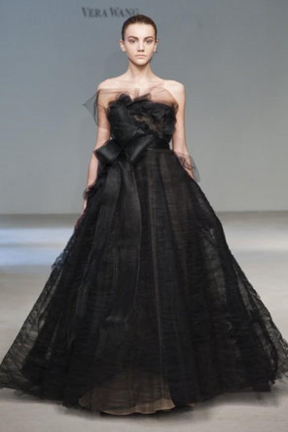 Attirant Vera Wang Modern Black Wedding Dresses ♥ Extraordinary Wedding Dresses