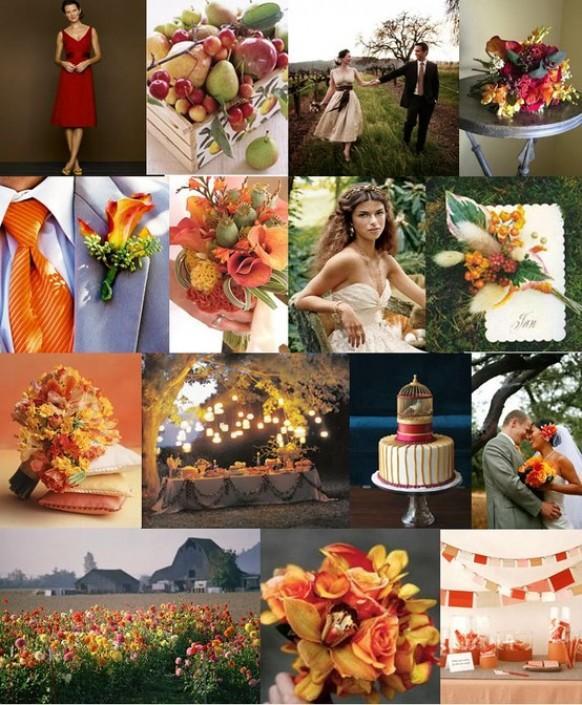 Outdoor November Wedding Flowers: Rustic Wedding Bouquets #796486