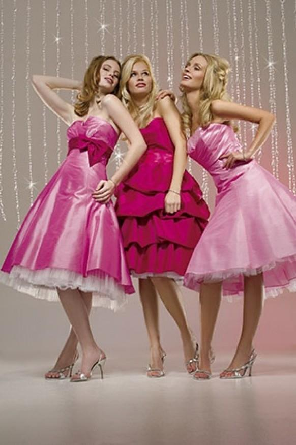 Pink wedding pink bridesmaids 39 dresses 796943 weddbook for Teenage dresses for a wedding