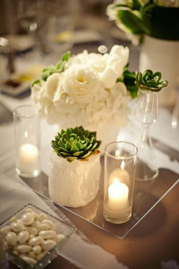 Wedding decor succulents 797025 weddbook for Modern centerpieces for tables