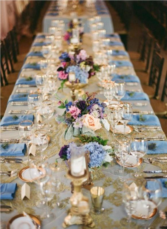 Blue White And Gold Wedding Decor : Gold wedding color palettes  weddbook