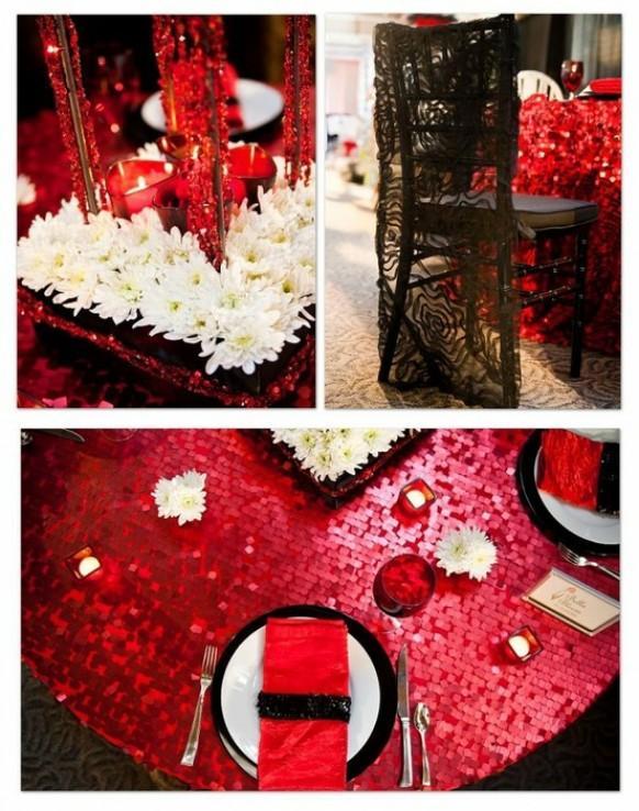 Scarlet Unique Wedding Decoration Christmas Centerpieces