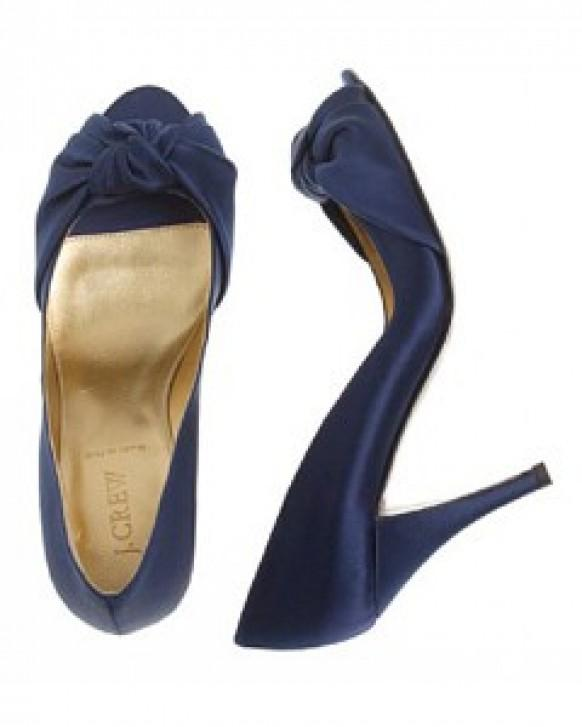 Wedding Dress With Navy Shoes Bridesmaid Blue