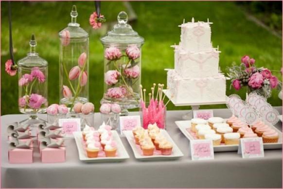 Декорирование столов с тортом