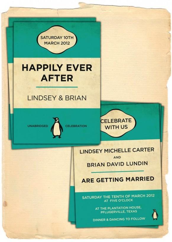 Penguin Book Cover Wedding Invitation ~ Invitations ideas  weddbook