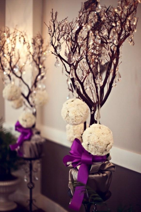 Wedding Centerpiece Ideas with Branches