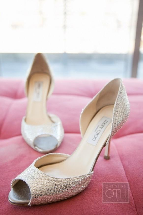 Sparkly Wedding Shoes Wedding Photo Silver Sparkly