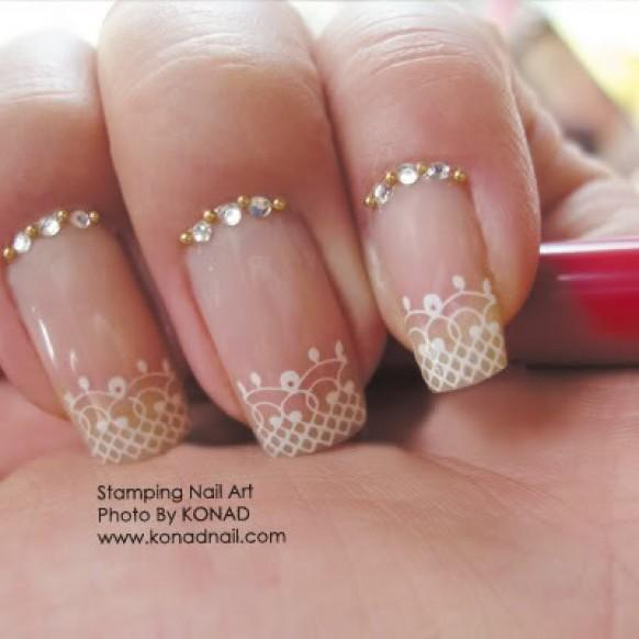 Nails For Wedding: Bridal Nail Designs ♥ Wedding Nail