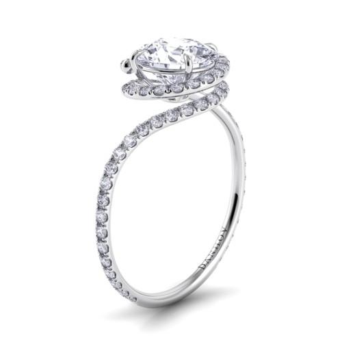 Célèbre Anneau De Mariage De Diamant De Luxe ♥ Bague De Fiançailles  BQ62