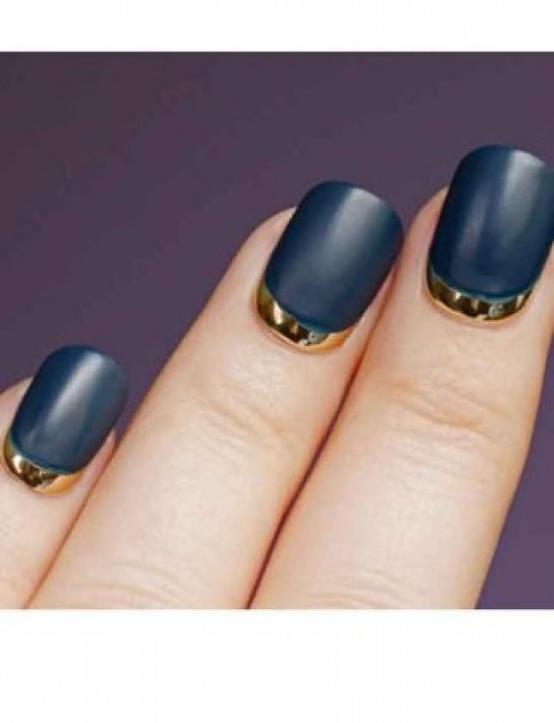 Hochzeit - Half Moon Manicure ♥ Hochzeits-Nail Art