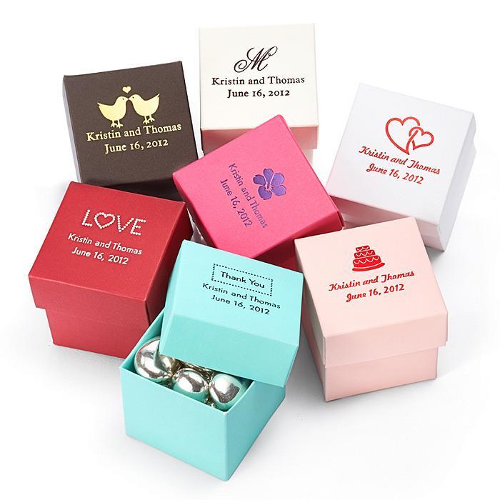 Wedding Gift Personalised Box : Wedding GiftsPersonalized Square Favor Boxes #1181974Weddbook