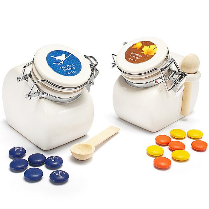 Wedding - Personalized Ceramic Jar Favors